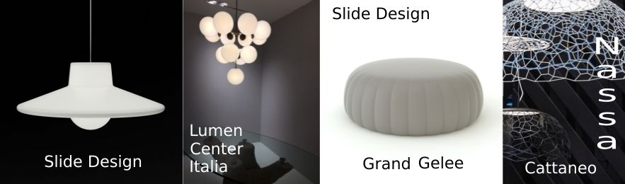 designer-pieces from slide, lumencenteritalia and cattaneo