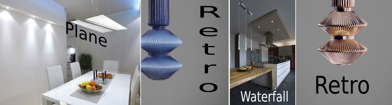 Products, Plane, Retro and Waterfall lighting from Cattaneo