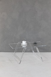 Origami rettangolare acrylic low table